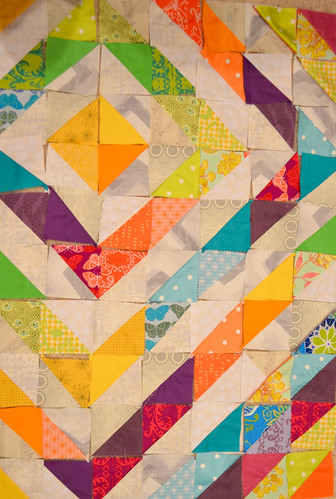 So many ways to quilt half square triangles