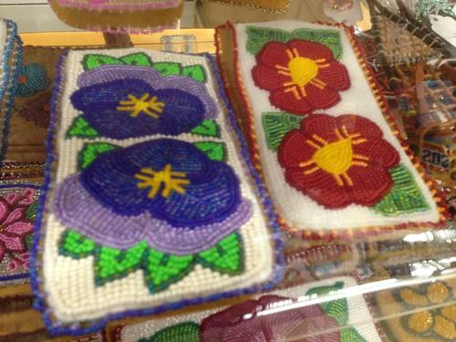 Athabascan Indian Decorative Beadwork in the Ahtna-Tanana Region of Chistochina, Alaska.