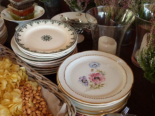 assiettes décorées
