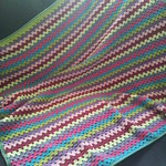 Baby blanket granny stripes