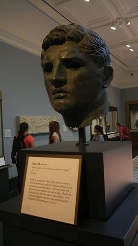 DSCN7503 _ Head of a Man, Roman, 100-1 B.C., Getty Villa, July 2013