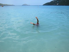 Violet Doing A Handstand In Magens Bay