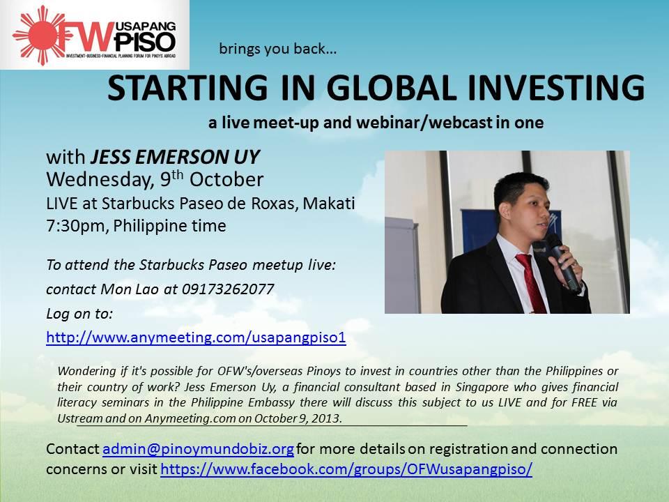 STARTING IN GLOBAL INVESTING