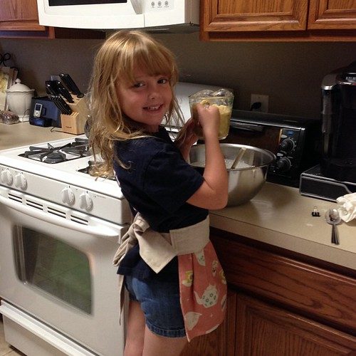286:365 Making banana bread in her @missletterm apron.