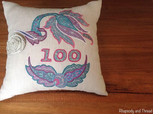 Liberty Motif Cushion by Rhapsody and Thread