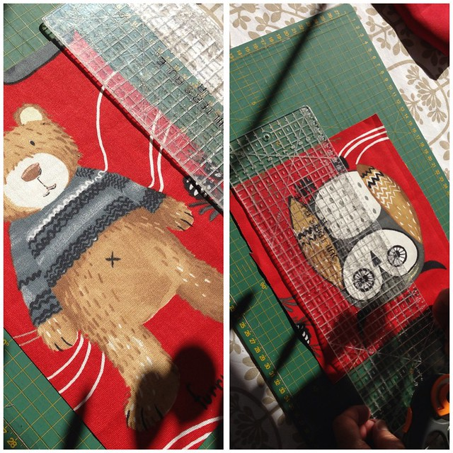 Teddy and Owl cutting