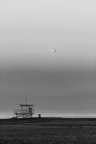 """Steve Christensen: • """"Moonset Morning in Venice"""""""