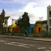 Small photo of Colourful housing in Acton