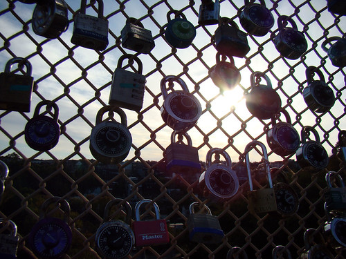 Love padlocks on the Schenley Bridge - Oct. 22n 2013