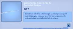 Scipio Stripe Holo-Stripe by Corebital Designs