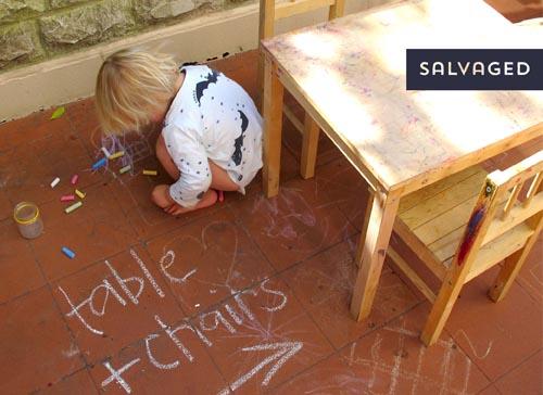 Children's table DIY