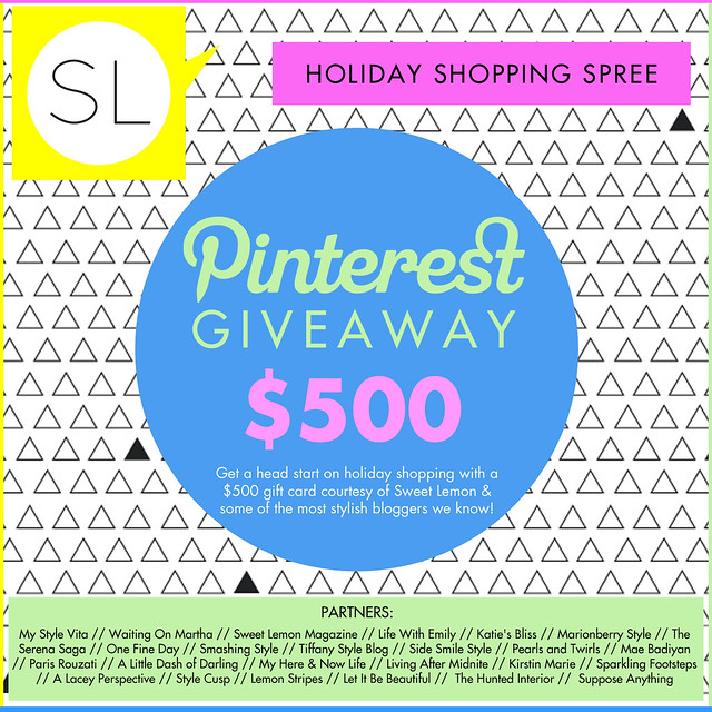 $500 Pinterest Giveaway!