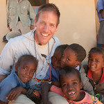 Dan with Group of Namibian Kids - Spitzkoppe School, Namibia