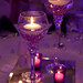 Goblets with Diamonds and Floating Candles