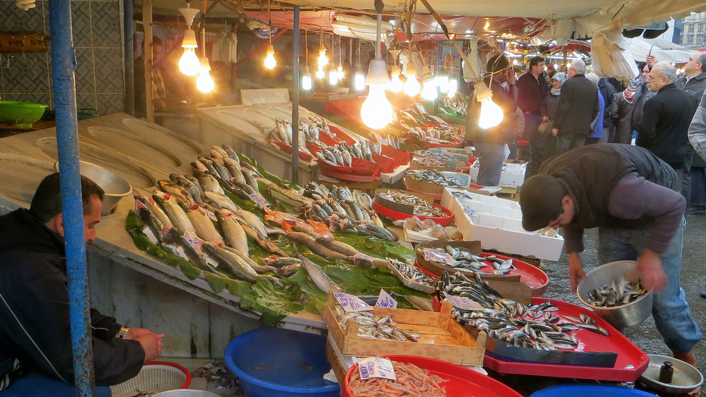 Karakoy Fish Market, Istanbul, Turkey, Nov 2013