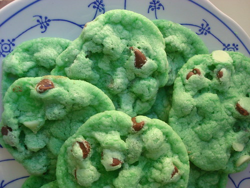 Green holiday cookies