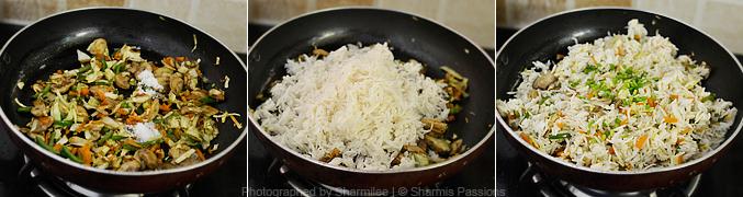 How to make mushroom fried rice - Step4