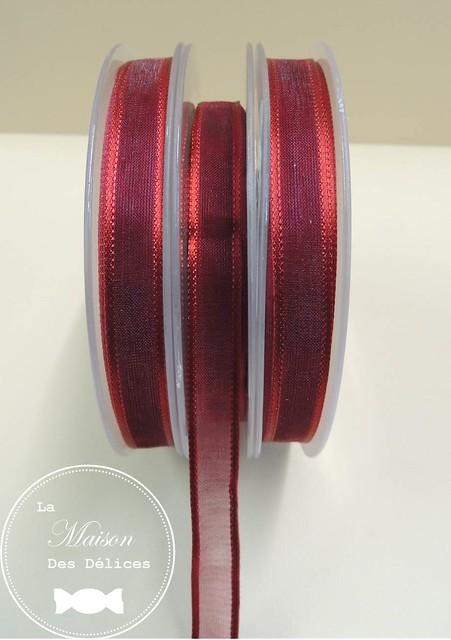 ruban bordeaux rouge cristal decoration mariage bapteme