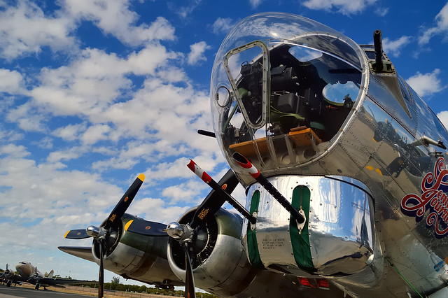 USAAF Boeing B-17G Flying Fortress 'Sentimental Journey'- Commemorative Air Force, Falcon Field, Mesa Arizona..