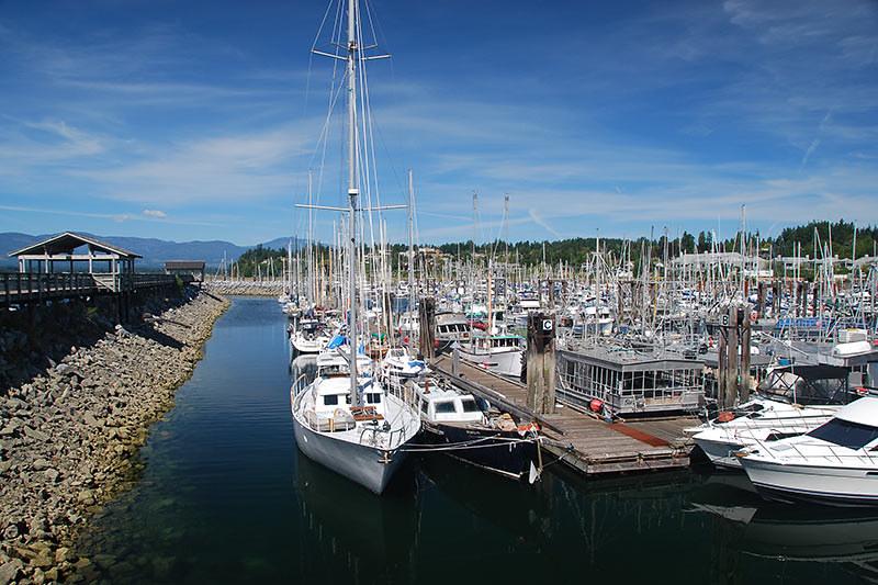 Comox Marina, Comox, Vancouver Island, British Columbia, Canada.