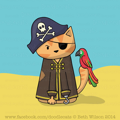 Pirate Cat - Doodlecats