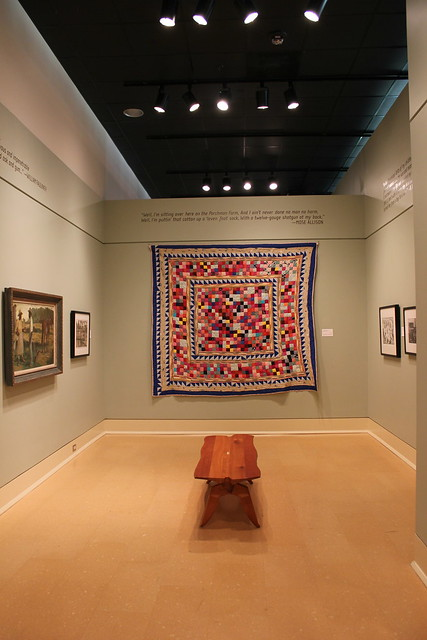 'Parchman Prison' Quilt by Hystercine Rankin at Mississippi Museum of Art, Jackson MS
