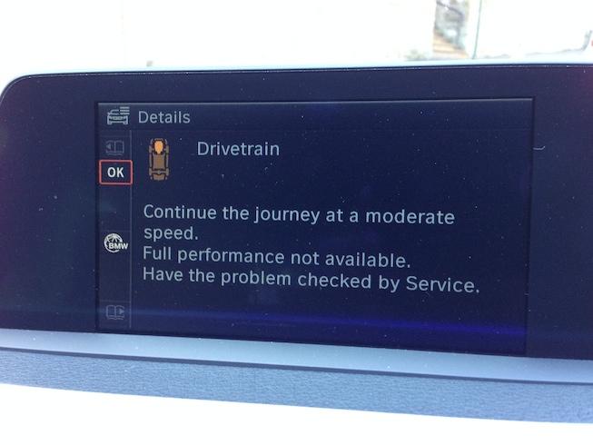 2012 bmw 740i drivetrain malfunction