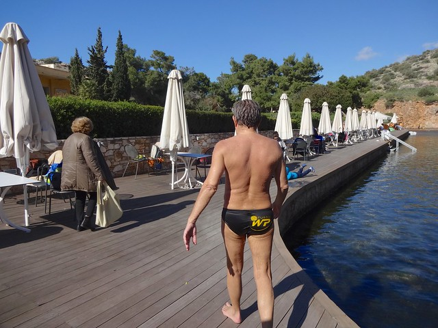 Swimmers in the Vouliagmeni lake