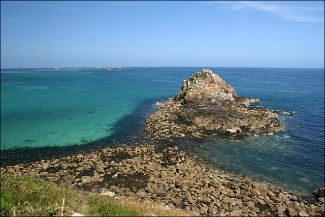 The south east coast of Herm Island