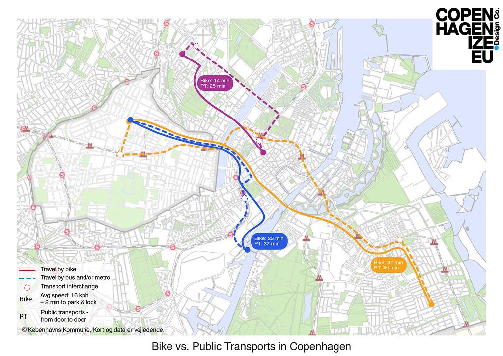 Time Bike Vs Bus Map 1 Clotilde Imbert Flickr