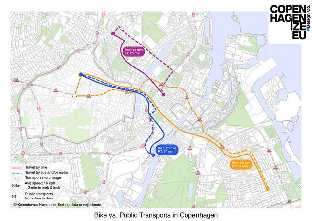 TIME bike vs.bus - Map 1