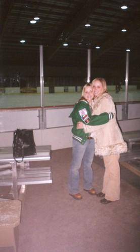 Brittny & Carissa at hockey game in OKC