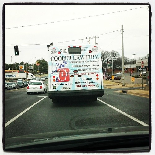 First Bus Ad for Cooper Law Firm, PLLC