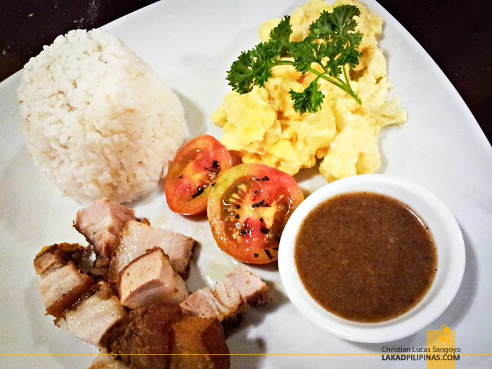 Kanto Freestyle Breakfast Libis Crispy Pork Belly