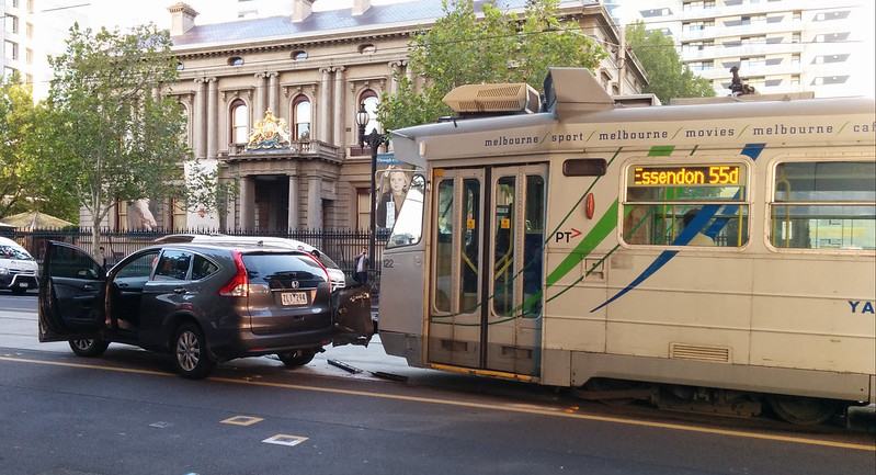 William St tram prang