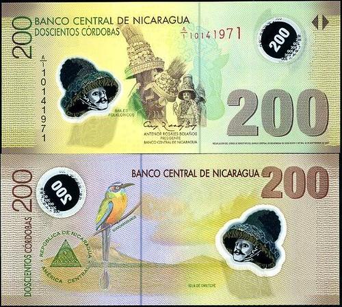 200 Córdobas Nikaragua 2012, polymer