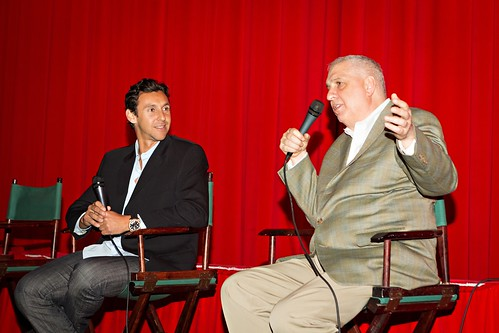 Kaj Larsen and Errol Morris at The Unknown Known, Exclusive LA Screening with Errol Morris