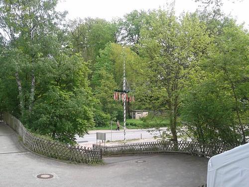 Der Maibaum in Marmstorf steht