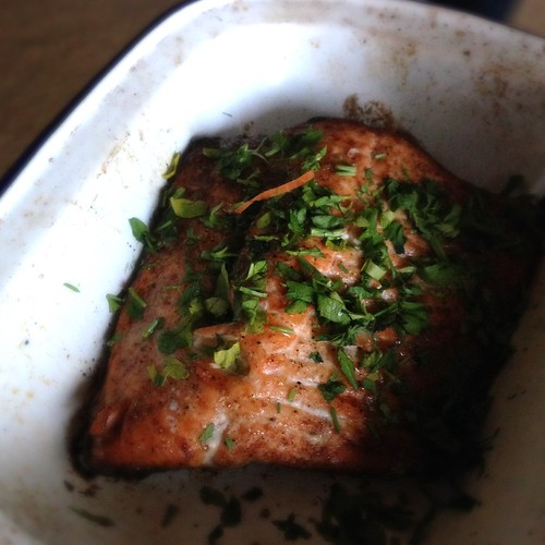 Salmon - crispy skin success!