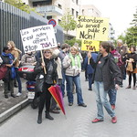On 28 April 2014, Public Services International, together with Swiss trade unions and civil society organisations, held a demonstration in front of the Australian mission in Geneva. The Australian mission was the venue of the secret negotiations for the TISA (Trade in Services Agreement) which governments are pushing and which will make it easier for big multinational companies to take over vital public services, such as health care and education, which you and your family rely on. For more information see our website: www.world-psi.org/TISA. #StopTISA