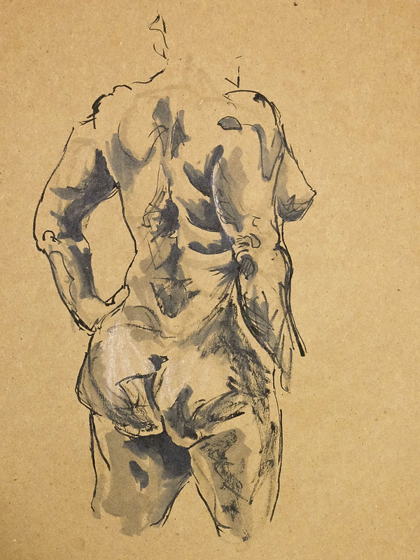 Life Drawing - Harcourt House - May 2014-6