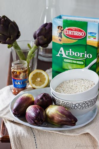 risotto stuffed artichokes