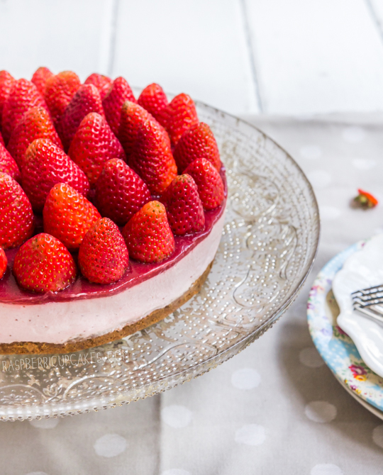 Strawberry Cheesecake (with Speculoos Crust)