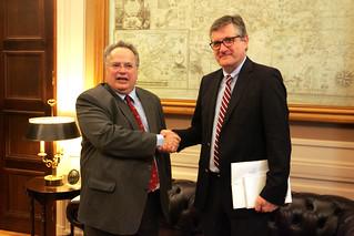 Συνάντηση Υπουργού Εξωτερικών Νίκου Κοτζιά με τον Πρέσβη της Γερμανίας Peter Schoof, Υπουργείο Εξωτερικών, 6.2.2015