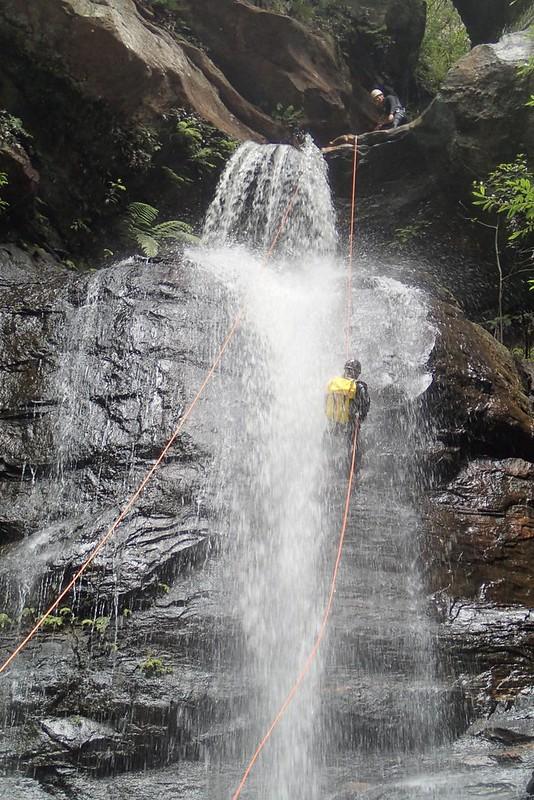 Abseiling Empress Falls - Blue Mountains
