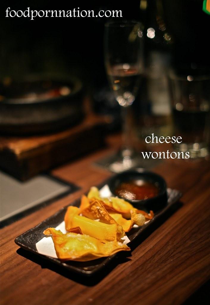 cheese wontons - Kintan