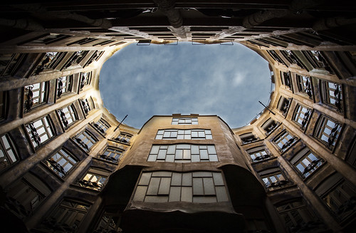 barcelona sky building architecture eos la spain angle low wide architect gaudi gps fullframe geotag pedrera 6d lseries 2015 24105mm