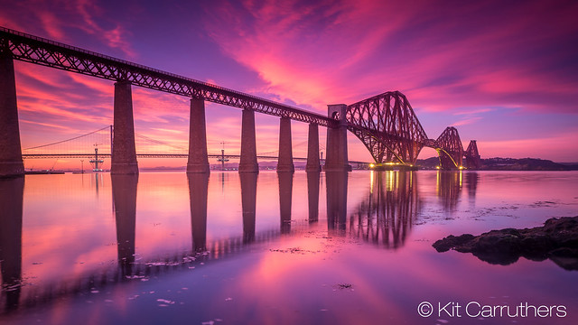 Forth Rail Bridge Sunset Feb 7th 15