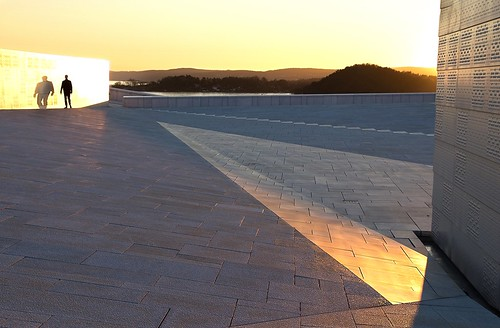 roof sunset shadow oslo norway backlight evening opera