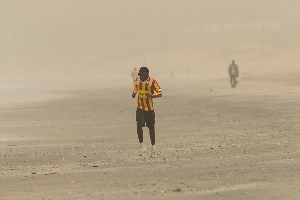 Poor visibility Kotu,Gambia.